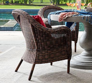 Torrey All Weather Wicker Wingback Lounge Chair Espresso