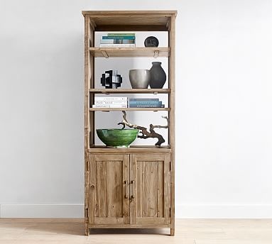 Parker Reclaimed Wood Bookcase Pottery Barn