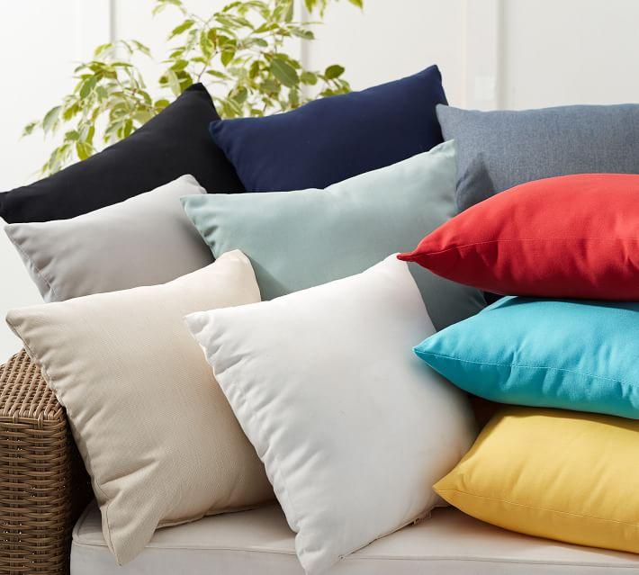 Sunbrella Solid Indoor Outdoor Pillows