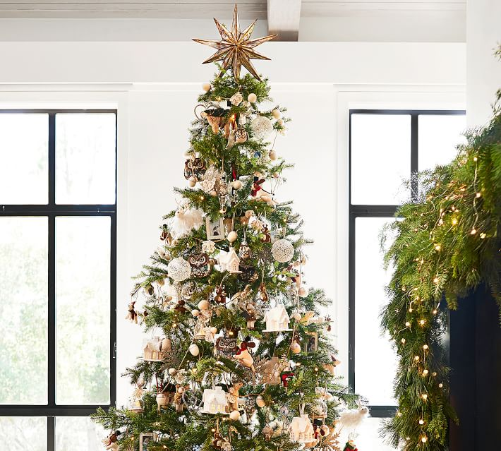 Gold Mirrored Star Christmas Tree Topper Pottery Barn