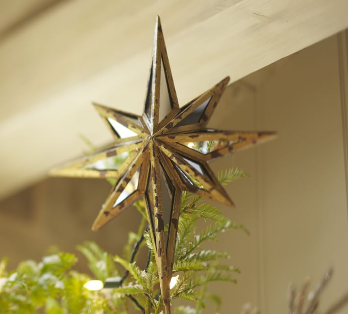 Origami 20-point star for Tree Topper and hanging room decor ... | 639x710