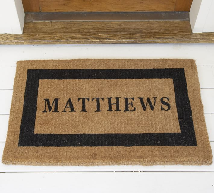 Personalized Framed Doormat Up To 8 Characters Pottery Barn