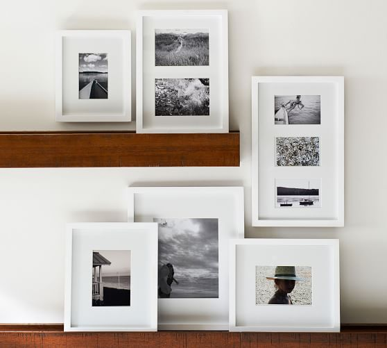 POTTERY BARN Wall GALLERY IN A BOX RUSTIC WOOD PICTURE FRAMES SET 15 NEW IN BOX