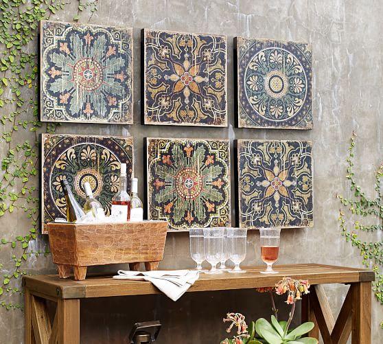 Sahara Printed Wood Tiles Wall Art