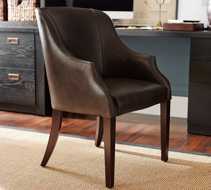 Laurel Leather Desk Chair Pottery Barn