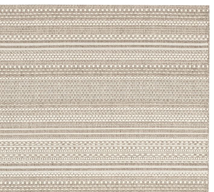 Parker Synthetic Indoor Outdoor Rug Bleached Pottery Barn