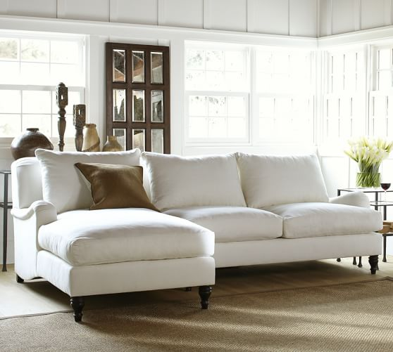 Upholstered Sofa With Chaise Sectional