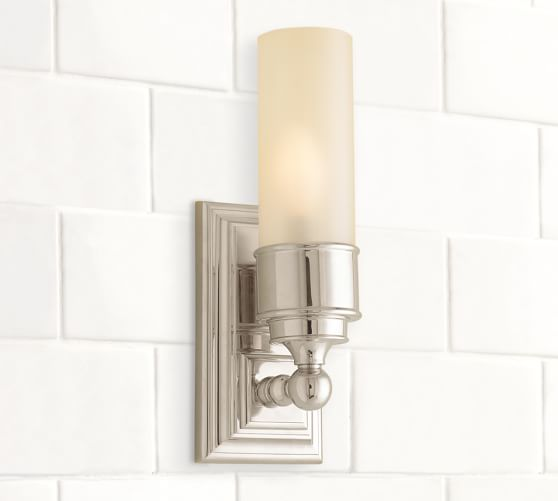 Tube Sconce Sconces Wall Lamps Pottery Barn