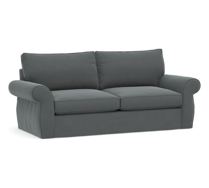 Pearce Roll Arm Grand Sofa Slipcover Performance Plush