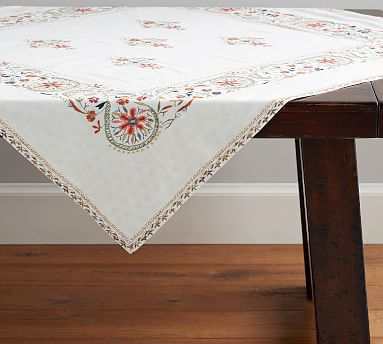 Lucca Reversible Table Throw Pottery Barn