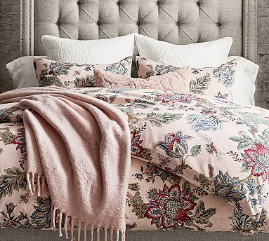 Laurel Palampore Patterned Duvet Cover Amp Sham Pottery Barn