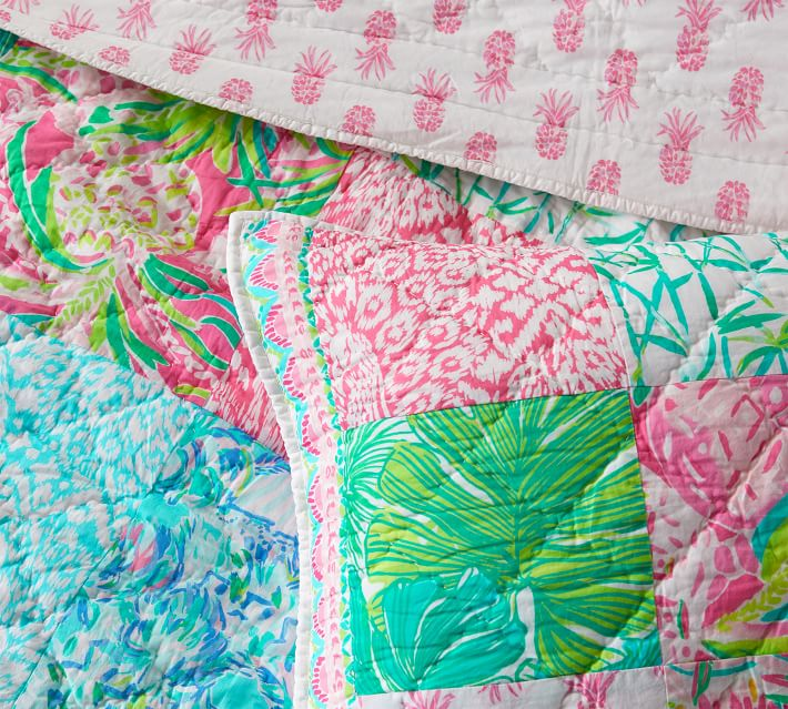 Lilly Pulitzer Pineapple Party Patchwork Pillow Sham