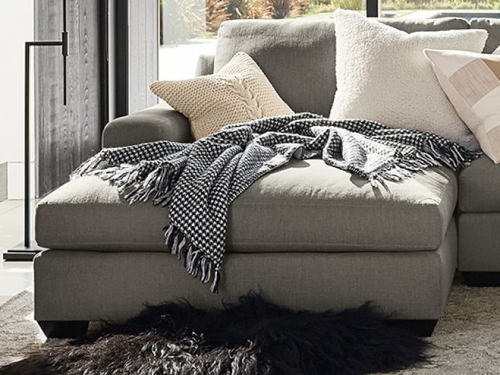 Big Sur Square Arm Upholstered Sofa with Double Chaise ...
