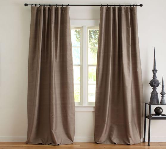 Dupioni Silk Rod Pocket Curtain