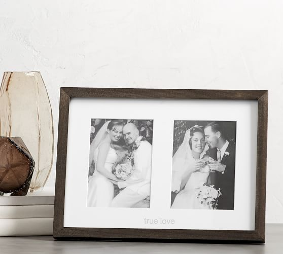 Frames by Mail Nine Square Opening Collage Frame for 3.5 x 5 Photo Navy Blue