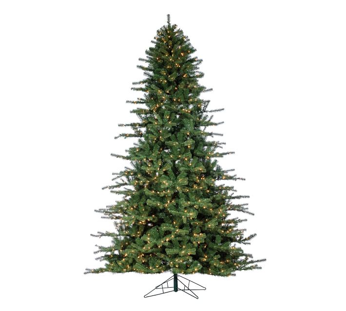 7.5ft/9ft Pre-Lit Faux Norfolk Pine Artificial Christmas ...