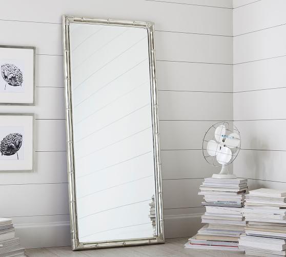 Bamboo Floor Mirror Standing
