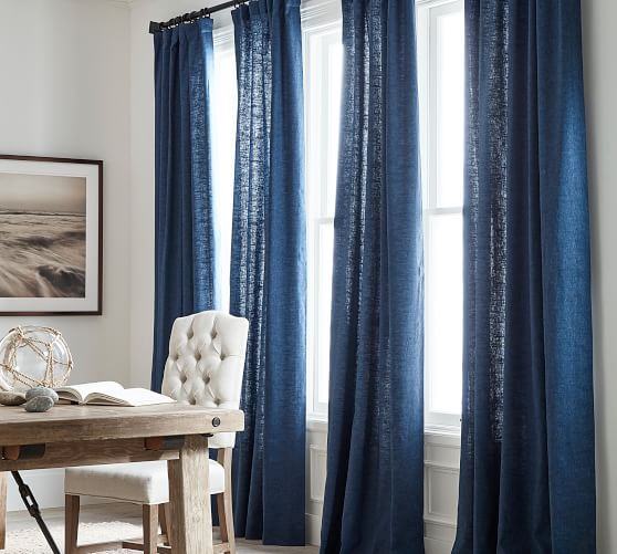 Emery Linen Cotton Rod Pocket Curtain