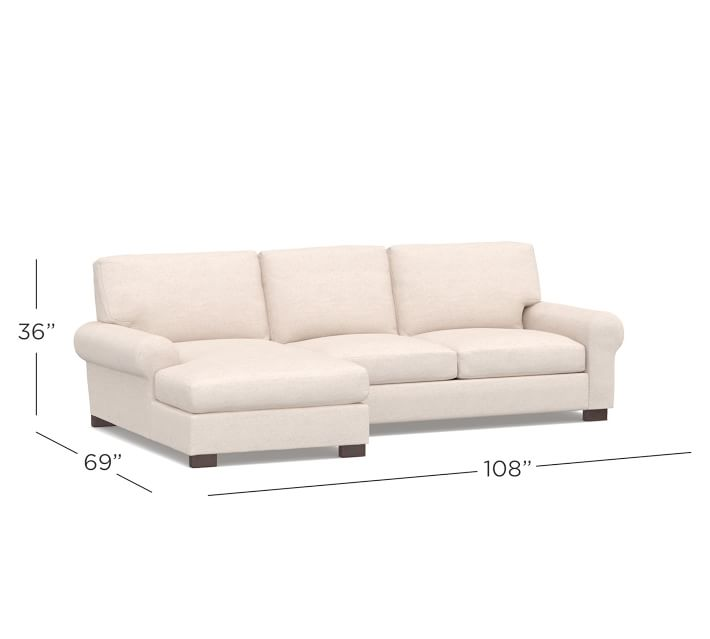 Turner Roll Arm Upholstered Sofa With Chaise Sectional
