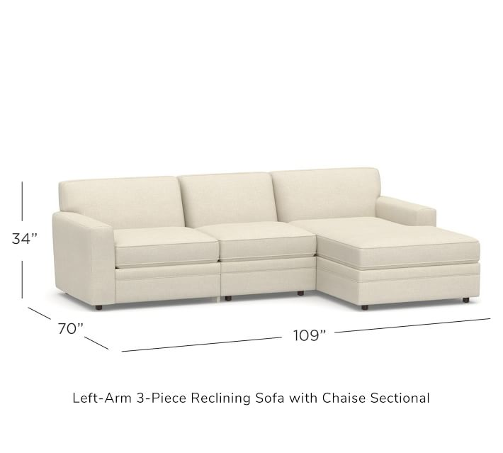 Pearce Tight Back Square Arm Upholstered 3 Piece Reclining