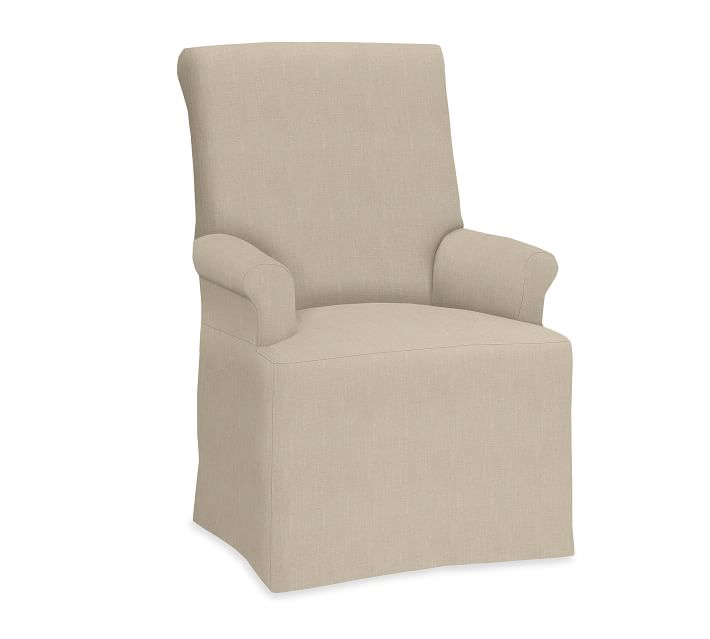 PB Comfort Roll Slipcovered Dining Chair & Armchair