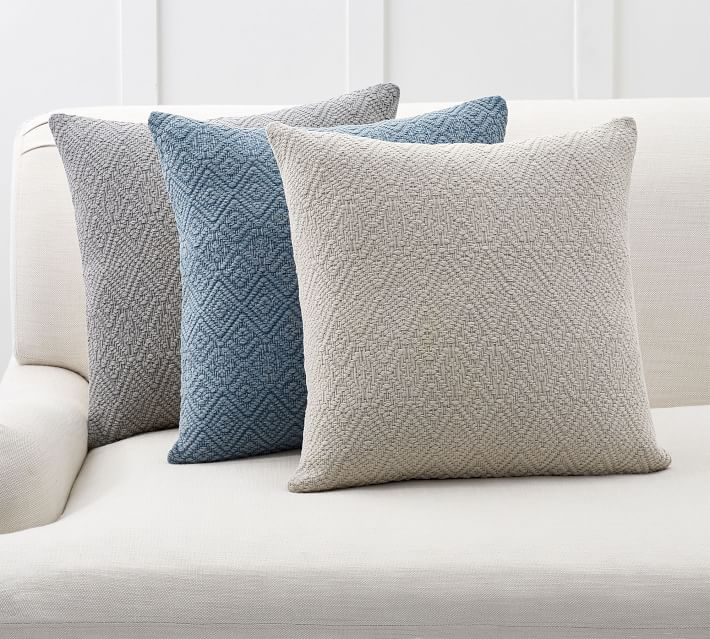 Washed Diamond Pillow Covers Pottery Barn