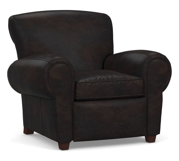 Manhattan Leather Recliner Polyester Wrapped Cushions