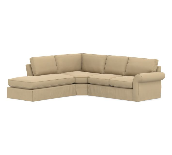 Pearce Roll Arm Right 3 Piece Bumper Wedge Sectional