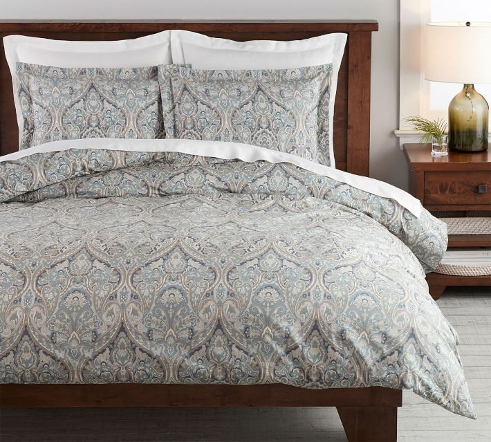 Blue Mackenna Paisley Percale Patterned Duvet Cover Amp Sham