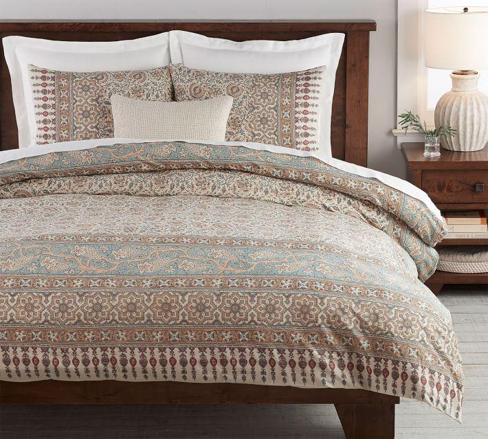 Multi Selena Kalamkari Cotton Patterned Duvet Cover Amp Sham