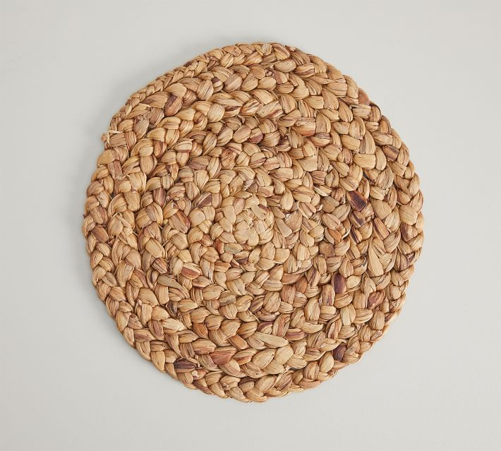 Round Water Hyacinth Placemat Pottery Barn