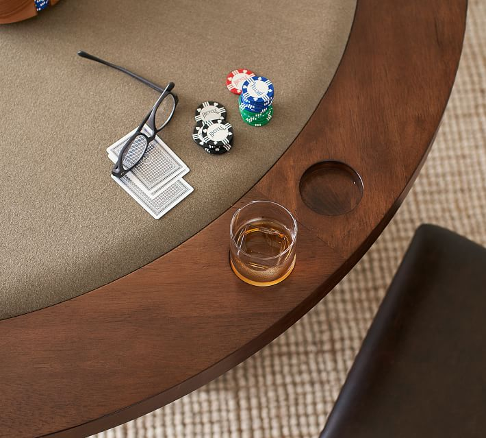 Benchwright Round Poker Table Pottery Barn