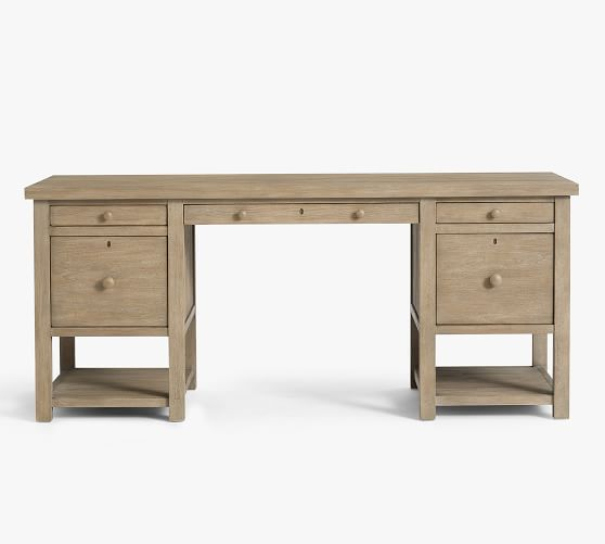 Farmhouse 70 Desk With Drawers Pottery Barn