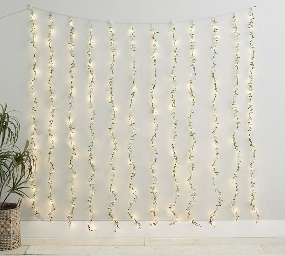 Curtain Leaf String Lights Pottery Barn