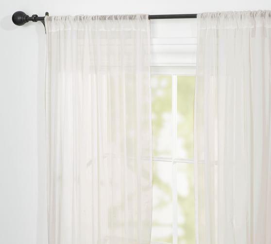 Clic Voile Rod Pocket Sheer Curtain