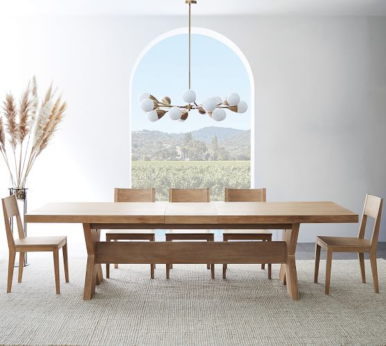 Modern Farmhouse Extending Dining Table Fog Pottery Barn