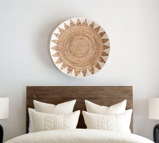 Sunny Handwoven Basket Wall Art