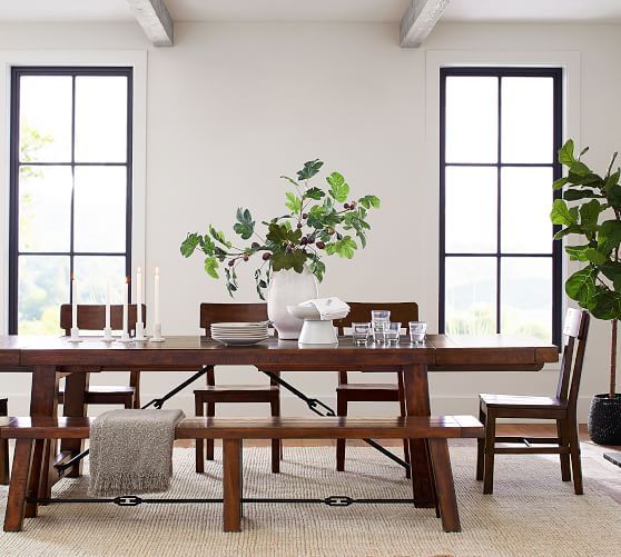 Benchwright Extending Dining Table Rustic Mahogany Pottery Barn,Diy Chromebook Charging Station For Classroom