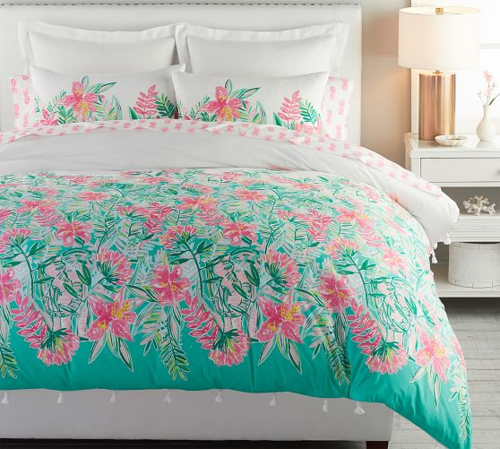 Lilly Pulitzer Jungle Lilly Percale Patterned Duvet Cover Sham Pottery Barn