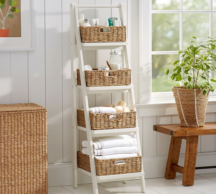 Ainsley Ladder Floor Storage Pottery Barn