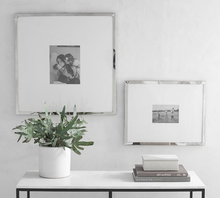 Modern Silver Wall Picture Frames | Pottery Barn