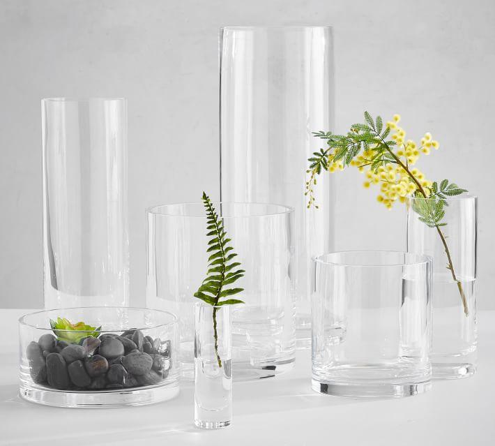 Aegean Clear Glass Vases Pottery Barn