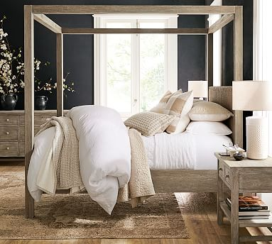 Farmhouse Storage Platform Bed Pottery Barn