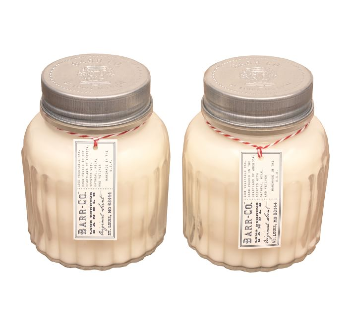 Barr Co Original Scent Apothecary Jar Candle Set Of 2 Pottery Barn