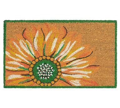 Painterly Sunflower Doormat Pottery Barn