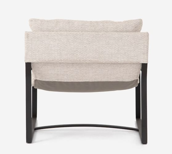 Harrison Upholstered Lounge Chair Pottery Barn
