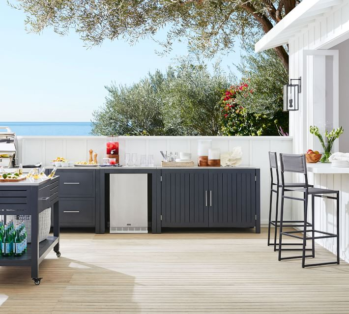 Build Your Own - Indio Metal Outdoor Kitchen, Slate ...