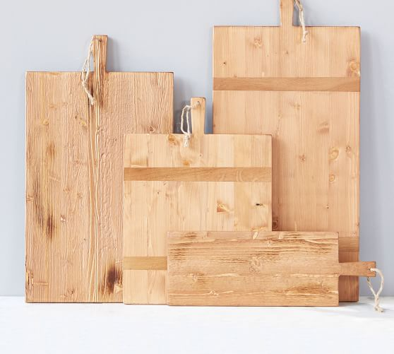 Shop Handcrafted Reclaimed Wood Rectangular Cheese Boards from Pottery Barn on Openhaus