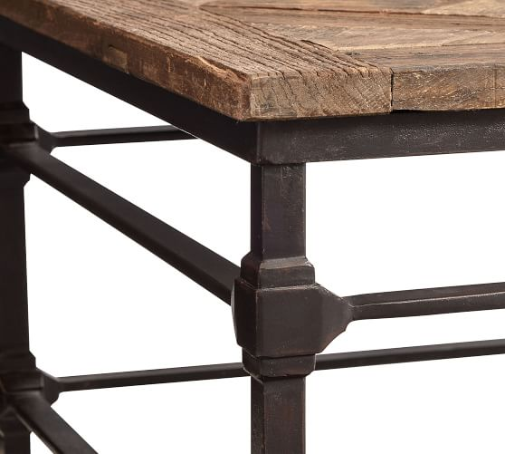 Parquet 54 Rectangular Reclaimed Wood Coffee Table Pottery Barn