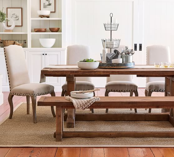Calais Upholstered Dining Chair Pottery Barn